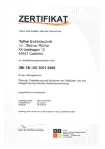 Zertifikat DIN EN ISO 9001:2008