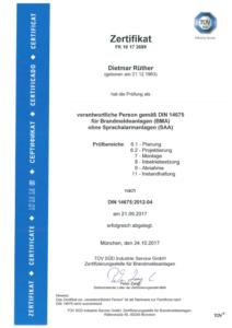 Zertifikat FK10172689